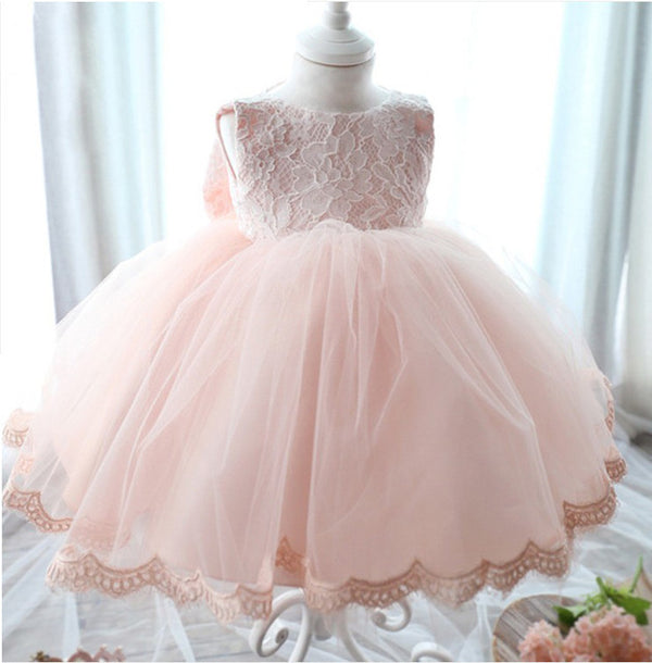 High-Quality Baby Girl Dress Baptism Dress for Girl Infant 1 Year Birthday Dress