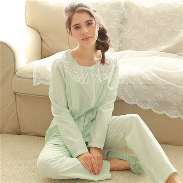 Lace Summer Maternity Pajamas Set Nursing Clothes For Pregnant Women Luxury Cotton Embroidery Maternity Pijama Set