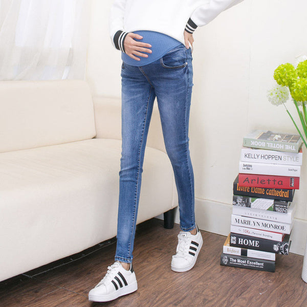 Abdominal Maternity Jeans For Pregnant Women Denim Skinny Trousers Nursing Maternity Clothes Elastic Waist Pregnancy Pants