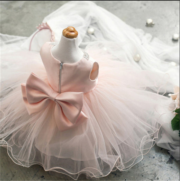 Babe Lace Princess Girl Communion Dress Little Bridesmaid Wedding Pageant Dresses Elegant Evening Party White Girls Clothes