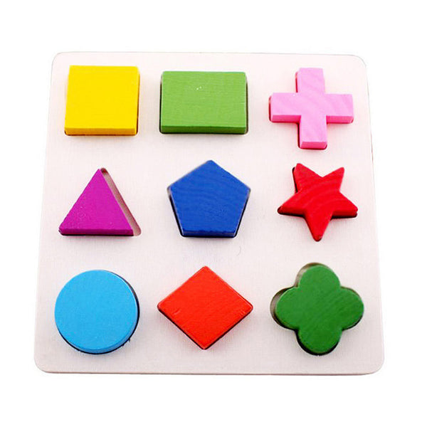 3 Styles Children Wooden 3D Shape Puzzle Toy Early Geometry Educational Learning
