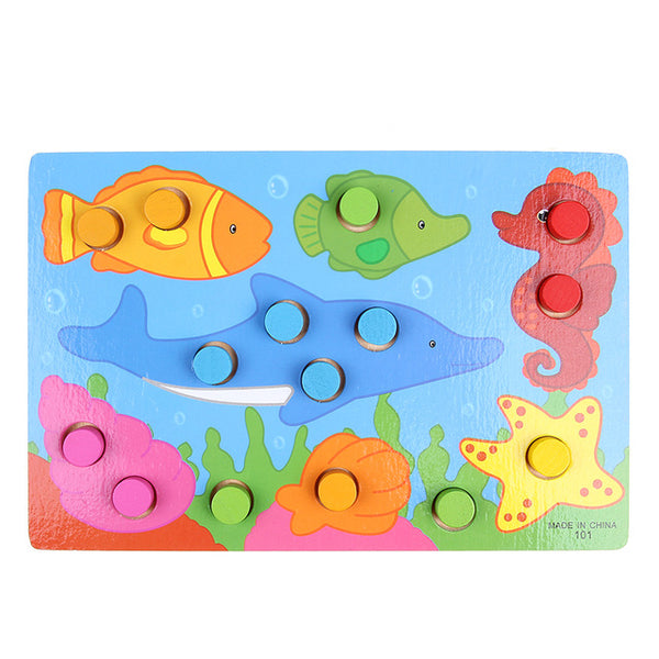 Colorful Cognition Board Montessori Kids Educational Toy