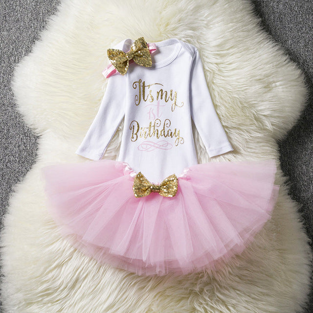 deb5a054 Baby Girl First Birthday Party Tutu Dresses for Toddlers Princess Clothes