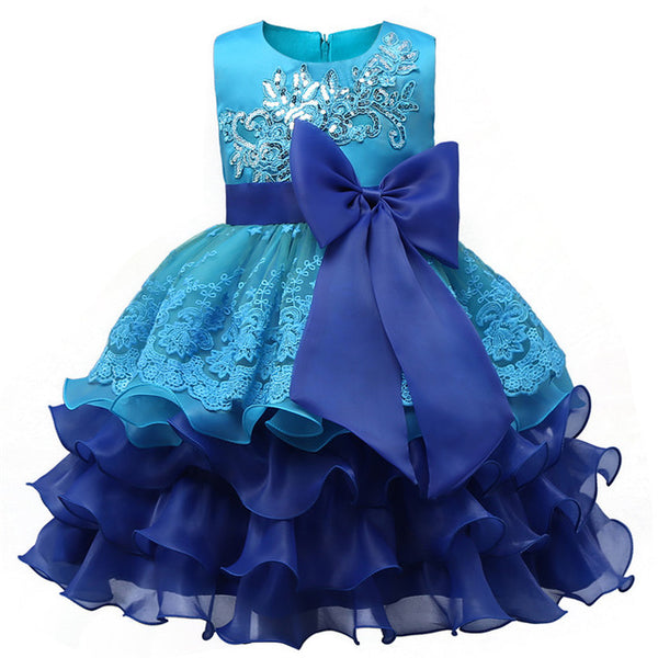 Princess Wedding Gown Junior Child Bridesmaid Dresses Kids Celebration Prom Gown Designs Dresses For Girls Clothes