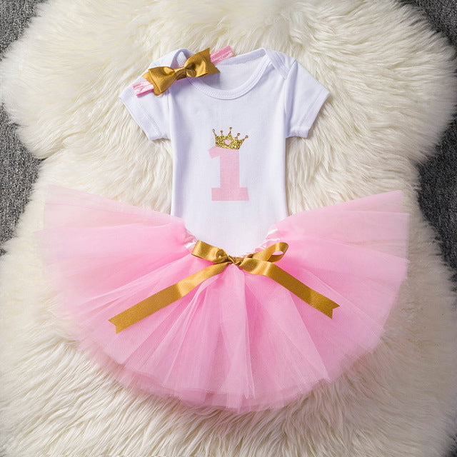 0bf05f98b0dc8 Newborn Infant Baby Girls Clothes Dress Toddler Girl 1 Year First ...