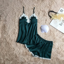 Women brand green pajamas set