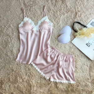 Women brand pink pajamas set