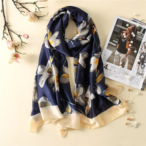 summer women's navy scarf