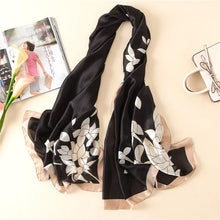Women Fashion Print Silk Scarves