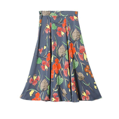 Floral Printed Knee Length Skirts