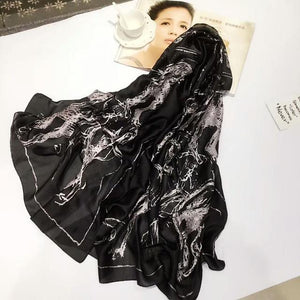 Women Shawl High Quality Silk Scarf