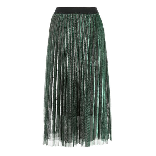 Women Pleated Elastic Waist Skirts