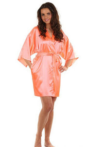 Sexy Satin Lace Bathrobe Perfect Wedding Robe