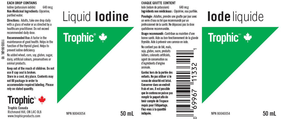 Trophic Iodine (Liquid) - 50 mL