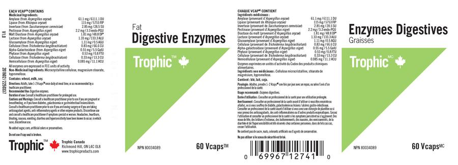 Trophic Digestive Enzymes (Fat) - 60 veg. capsules