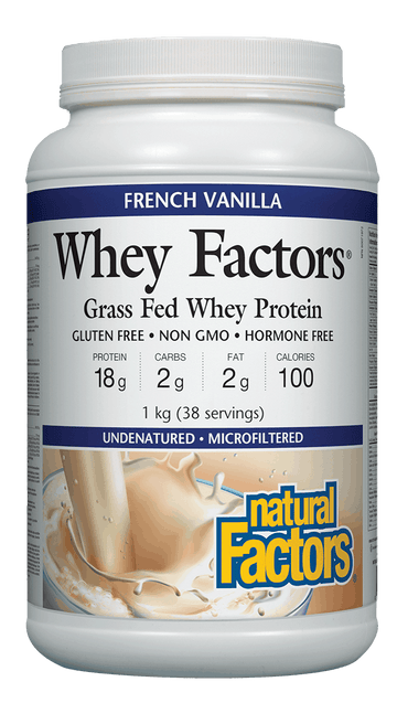 Natural Factors Whey Factors® 100% Natural Whey Protein 1kg Powder