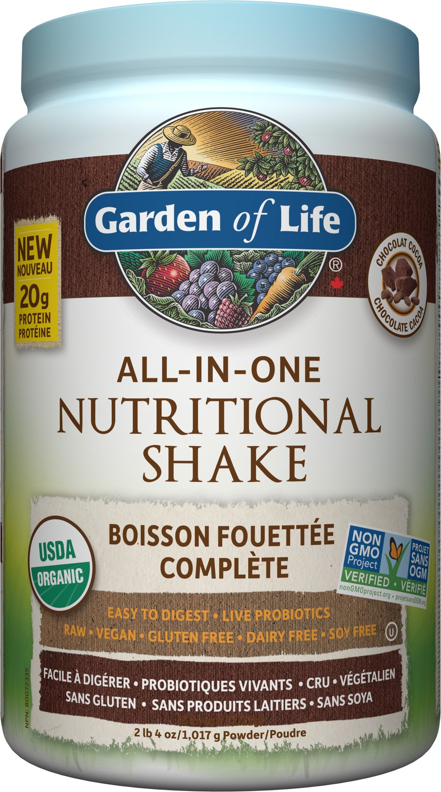 Garden Of Life - RAW ALL-IN-ONE NUTRITIONAL SHAKE - Chocolate Cacoa