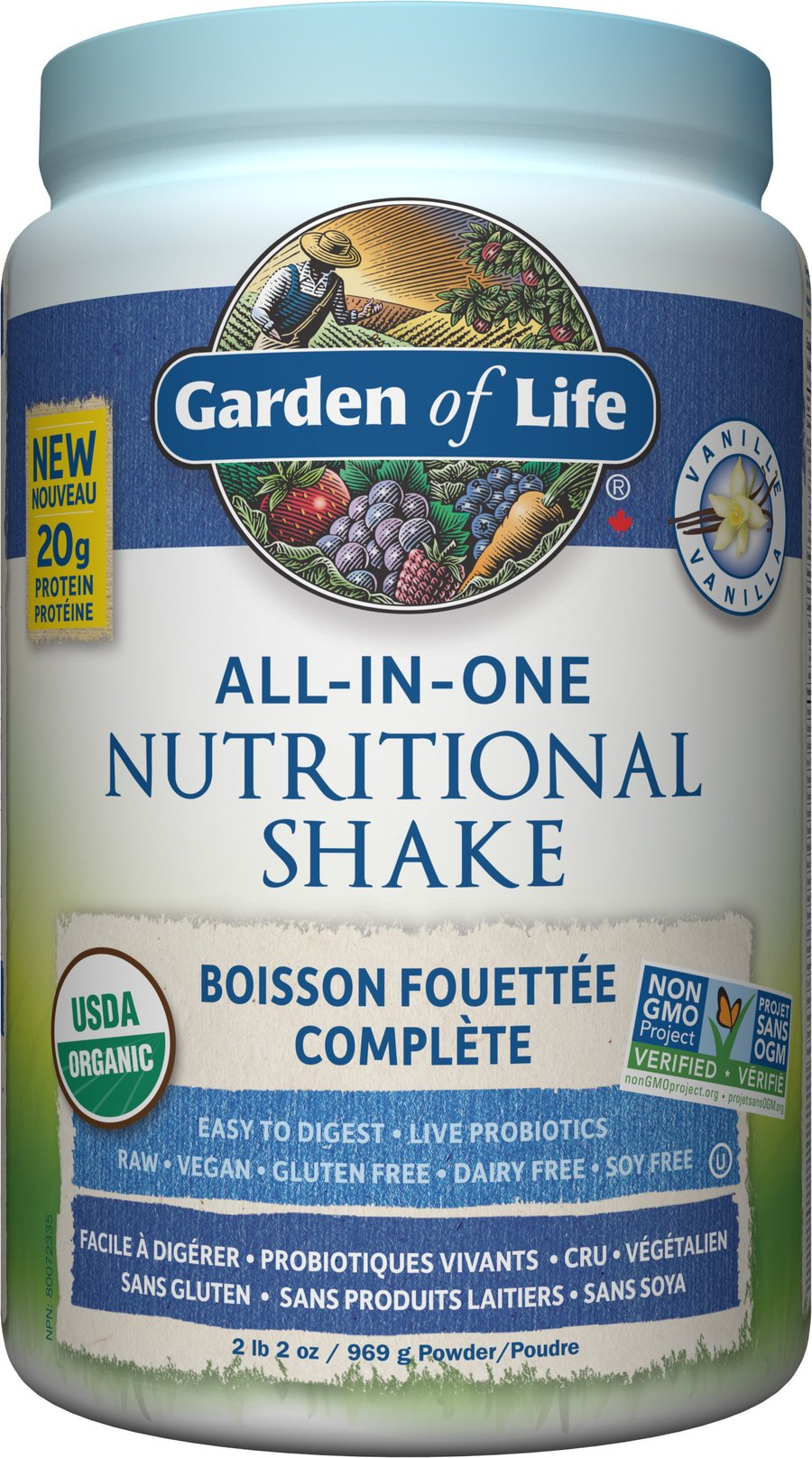 Garden Of Life - RAW ALL-IN-ONE NUTRITIONAL SHAKE - Vanilla