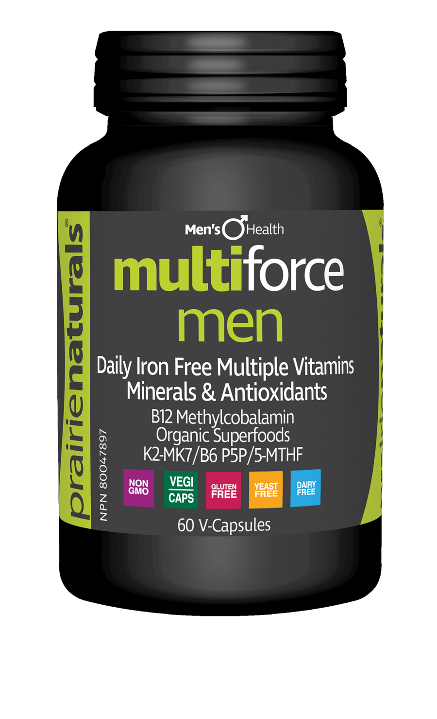 Prairie Naturals Multi-Force for Men 60 Veg. Capsules