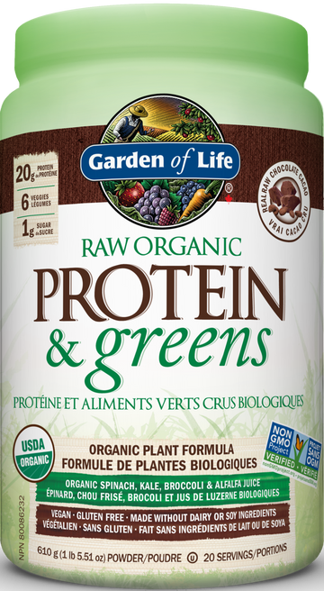 Garden Of Life - RAW ORGANIC Protein&Greens - Chocolate