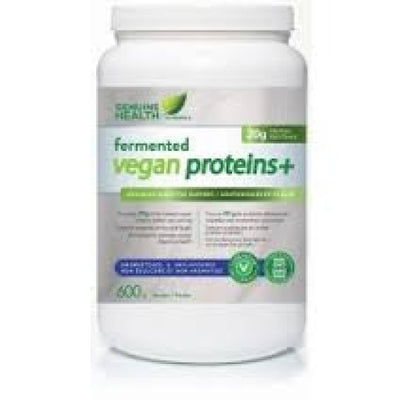 Genuine Health Fermented Vegan Protein 600g Powder Unsweetened - Natural Focus