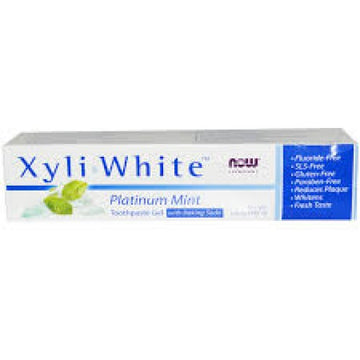 Now Xyliwhite™ Platinum Mint Toothpaste Gel w/Baking Soda 181 g - Natural Focus