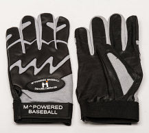PREMIUM GOATSKIN LEATHER BATTING GLOVE - Black / Gray