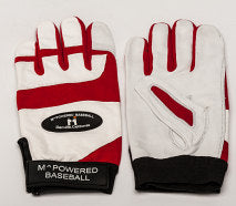 PREMIUM GOATSKIN LEATHER BATTING GLOVE - Red / White #2
