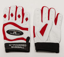 PREMIUM GOATSKIN LEATHER BATTING GLOVE - Red / White