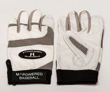 PREMIUM GOATSKIN LEATHER BATTING GLOVE - Grey / White