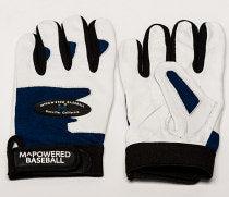 PREMIUM GOATSKIN LEATHER BATTING GLOVE - Navy / White #2