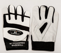 PREMIUM GOATSKIN LEATHER BATTING GLOVE - Black / White #3