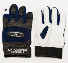 PREMIUM GOATSKIN LEATHER BATTING GLOVE - Black /Blue/White