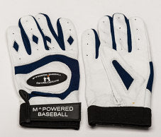 PREMIUM GOATSKIN LEATHER BATTING GLOVE - Navy / White