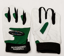 PREMIUM GOATSKIN LEATHER BATTING GLOVE - Green / White #3