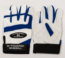PREMIUM GOATSKIN LEATHER BATTING GLOVE - Royal Blue / White