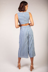 Stripe Cutout Jumpsuit