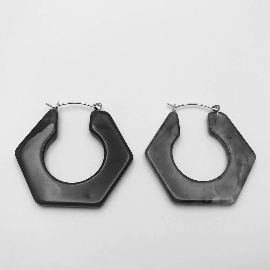 Nealie Resin Hoop Earrings