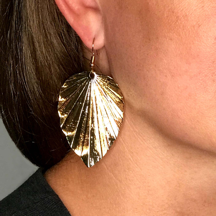 Luminous Leaf Earrings