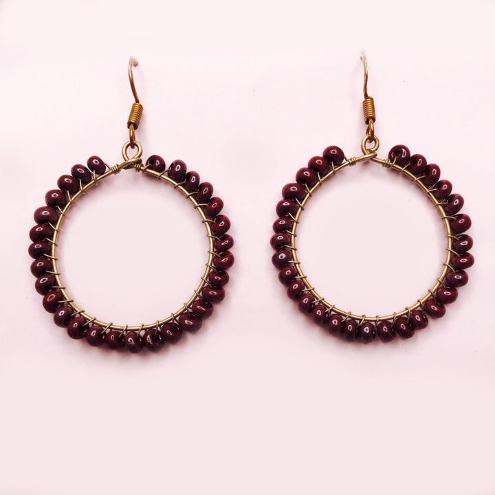 Mauve Hoop Earrings