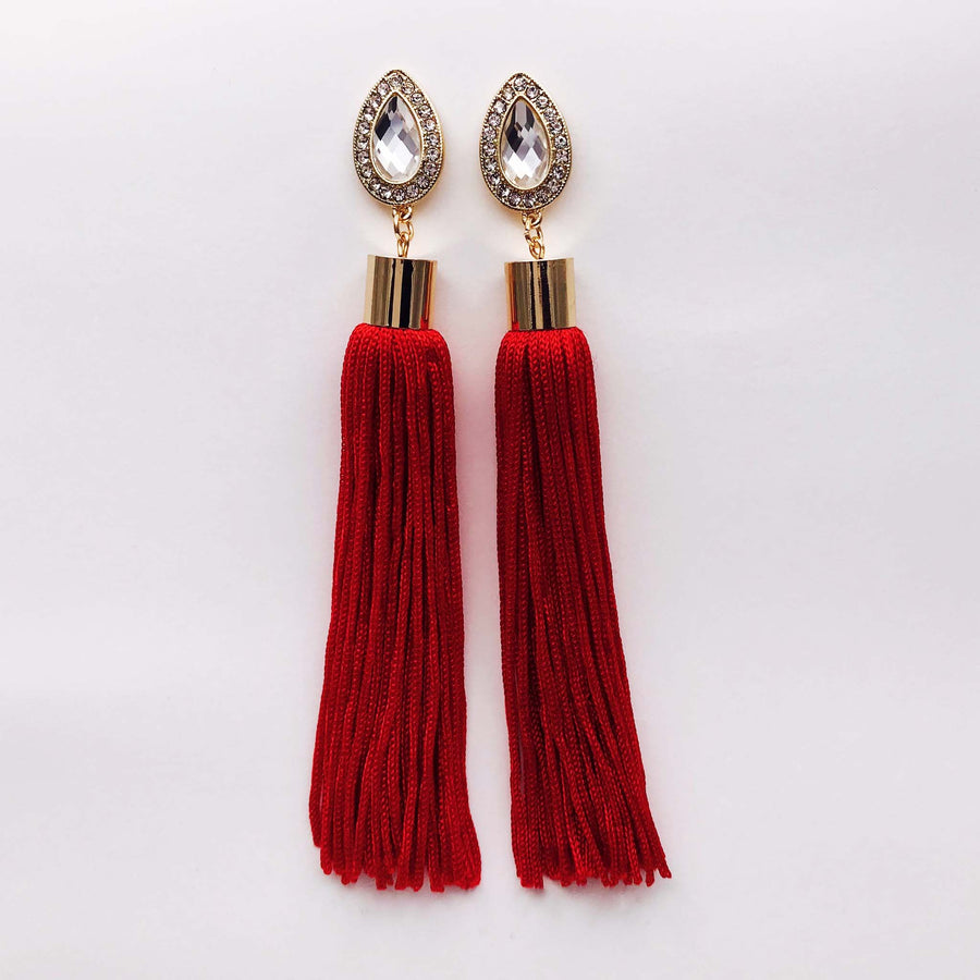Scarlet Tassel Earrings