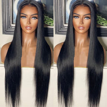 Load image into Gallery viewer, Lush Natural Straight Glueless Frontal Wig 34""