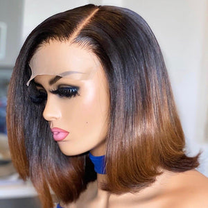 Ombre Natural Bob 13x4 Frontal Wig