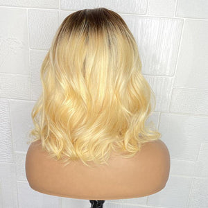 "HoneyBlonde 13x4 Wavy Frontal Wig 12"" [BIG SALE]"