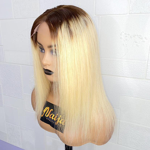 Blonde Straight 4x4 Lace Closure Wig 12