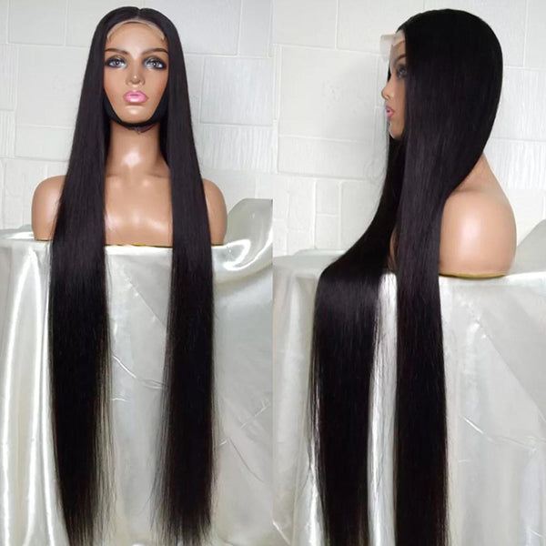 Lush Natural Straight Glueless Frontal Wig 40