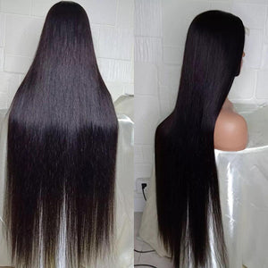 Lush Natural Straight Glueless Frontal Wig 34""