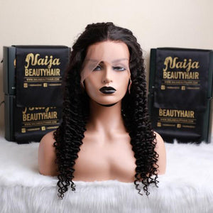 360 Lace Wig Deep Wave Hair