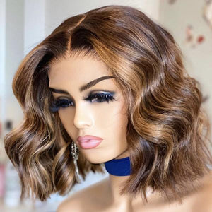 Highlight Beach Wave 13x4 Frontal Wig