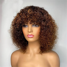 Load image into Gallery viewer, Double Drawn Highlight Pixie Curls With Fringe Wig